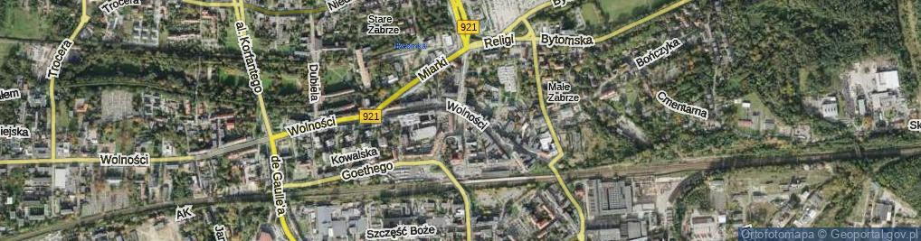 Zdjęcie satelitarne Plac Wolności