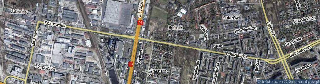 Zdjęcie satelitarne Pojezierska