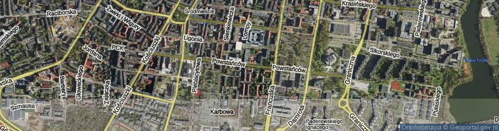 Zdjęcie satelitarne Powstańców