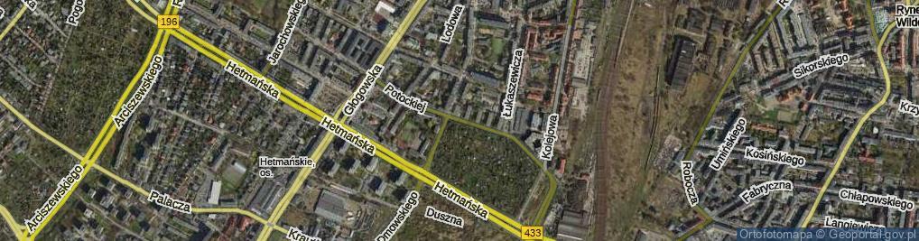 Zdjęcie satelitarne Potockiej Klaudyny