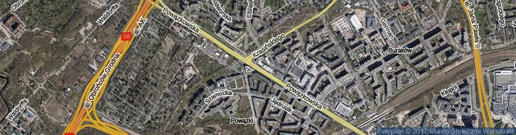 Zdjęcie satelitarne Powązkowska ul.