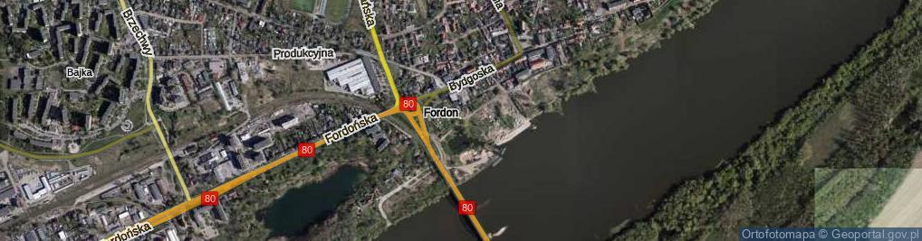 Zdjęcie satelitarne Promenada