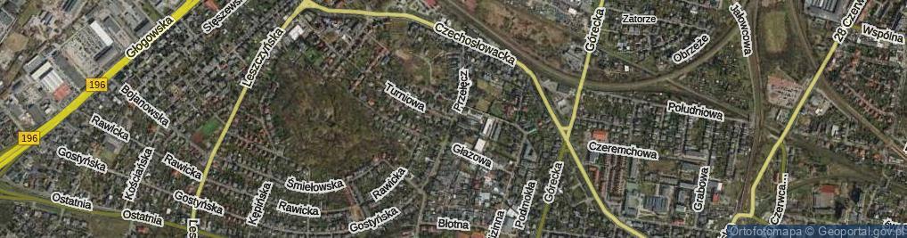 Zdjęcie satelitarne Przełęcz