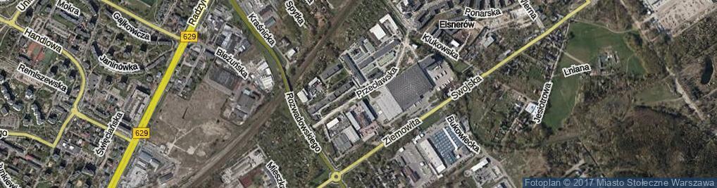 Zdjęcie satelitarne Przecławska ul.