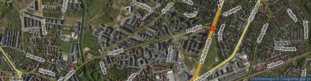 Zdjęcie satelitarne Przyjaźni