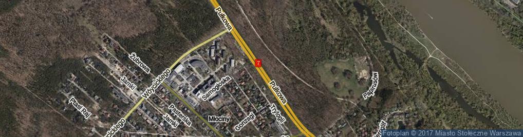 Zdjęcie satelitarne Pułkowa ul.
