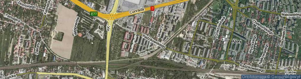 Zdjęcie satelitarne Radzikowskiego Eljasza Walerego ul.