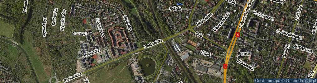 Zdjęcie satelitarne Racławicka