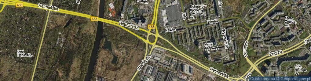 Zdjęcie satelitarne Rondo Starołęka rondo.