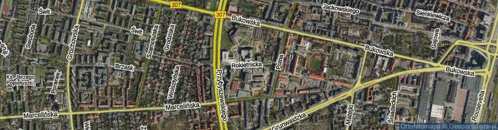 Zdjęcie satelitarne Rokietnicka ul.