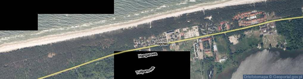 Zdjęcie satelitarne Rogowo ul.