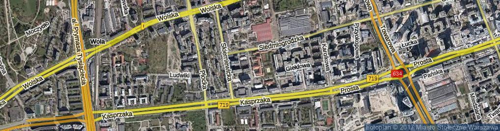 Zdjęcie satelitarne Rogalińska