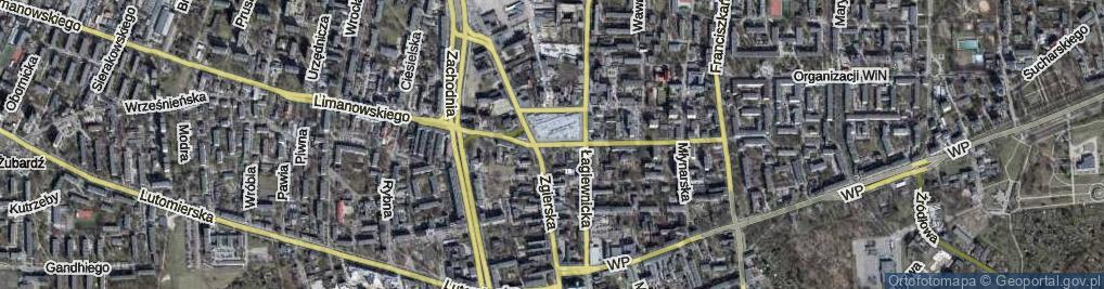 Zdjęcie satelitarne Rynek Bałucki