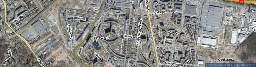 Zdjęcie satelitarne Rydla Lucjana ul.