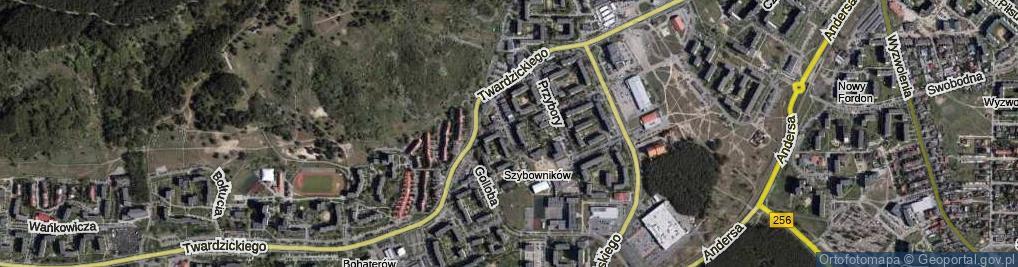 Zdjęcie satelitarne Rzeźniackiego Wojciecha