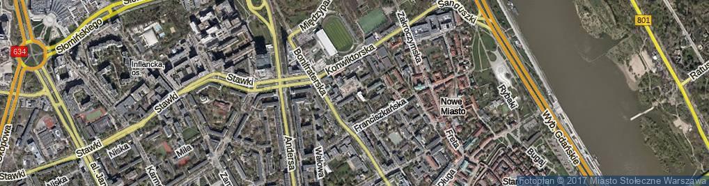 Zdjęcie satelitarne Sapieżyńska ul.