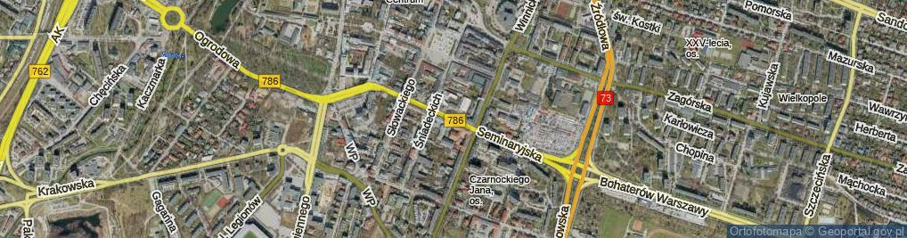 Zdjęcie satelitarne Seminaryjska ul.