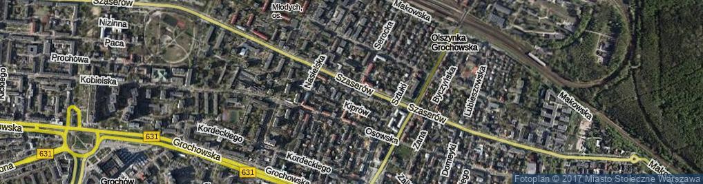 Zdjęcie satelitarne Serocka ul.