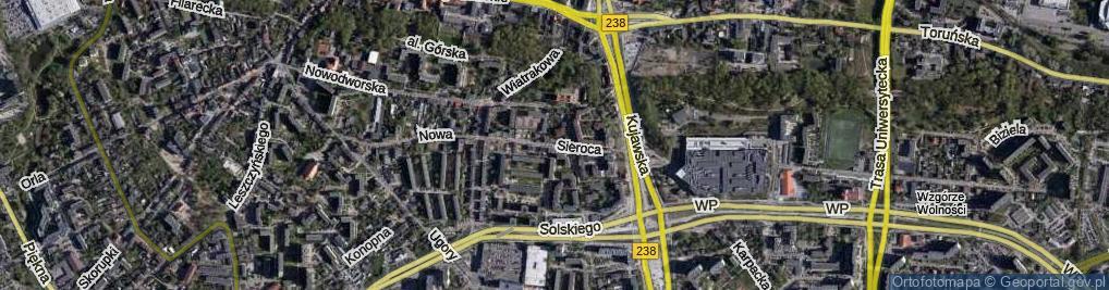 Zdjęcie satelitarne Sieroca