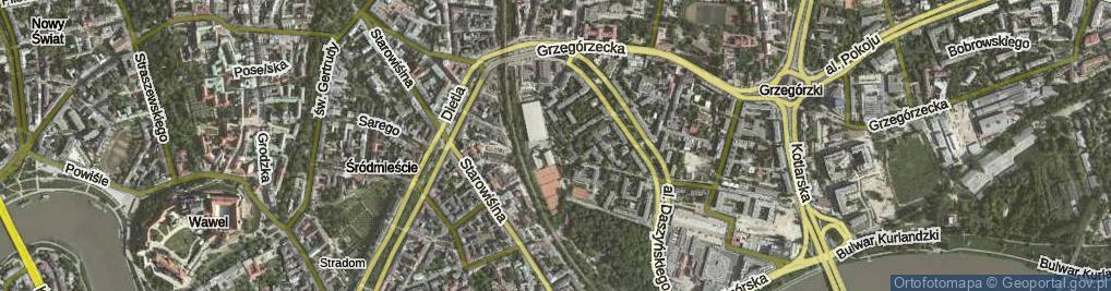 Zdjęcie satelitarne Siedleckiego Michała ul.