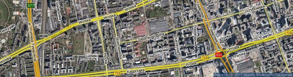 Zdjęcie satelitarne Siedmiogrodzka