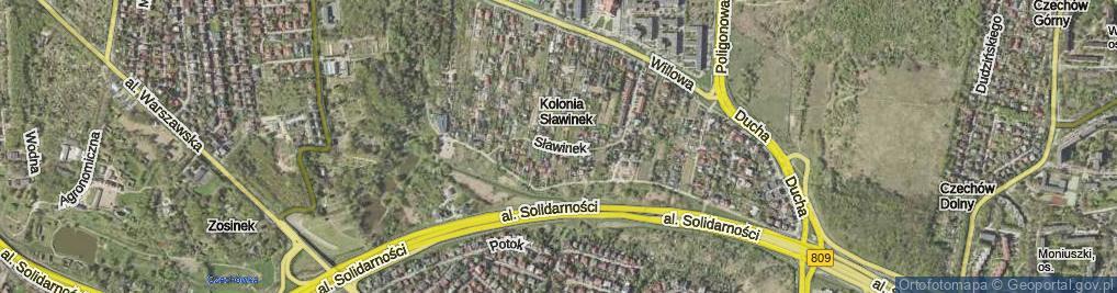 Zdjęcie satelitarne Sławinek