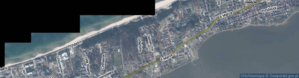Zdjęcie satelitarne Słoneczna