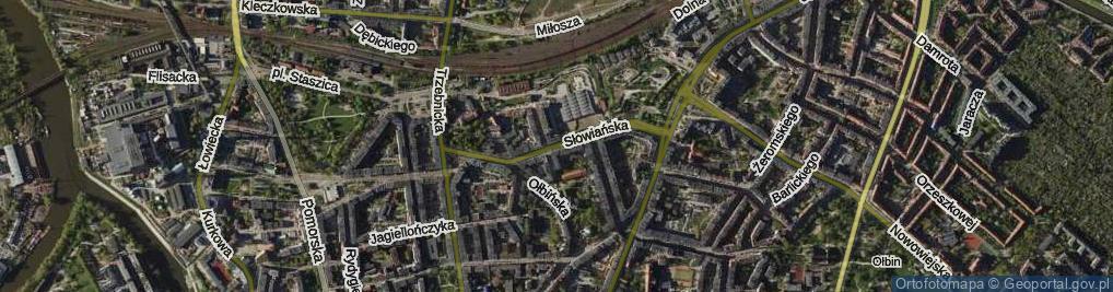 Zdjęcie satelitarne Słowiańska