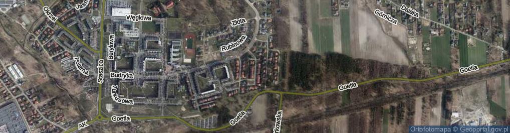 Zdjęcie satelitarne Srebrna