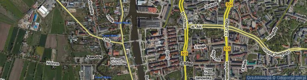 Zdjęcie satelitarne Studzienna