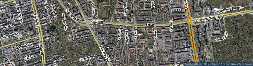 Zdjęcie satelitarne Stępińska ul.