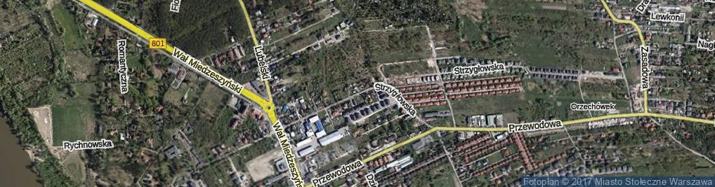 Zdjęcie satelitarne Strzygłowska ul.