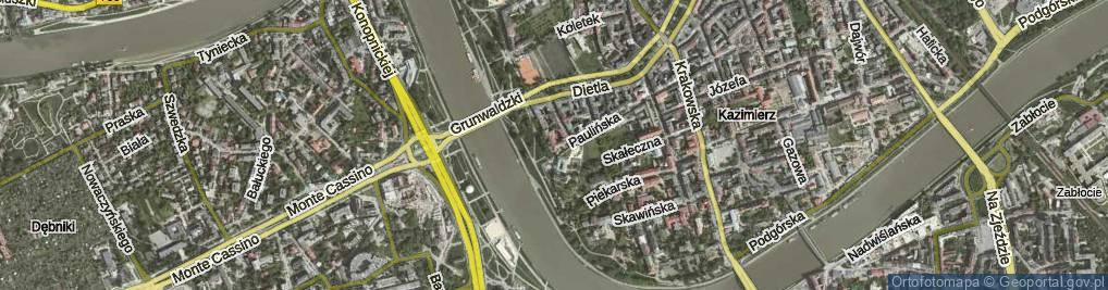 Zdjęcie satelitarne św. Stanisława ul.