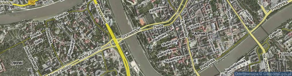 Zdjęcie satelitarne św. Stanisława