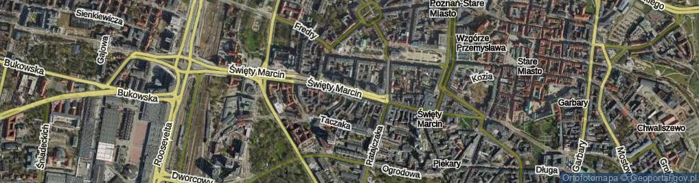 Zdjęcie satelitarne Święty Marcin
