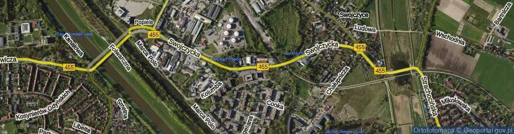 Zdjęcie satelitarne Swojczycka ul.