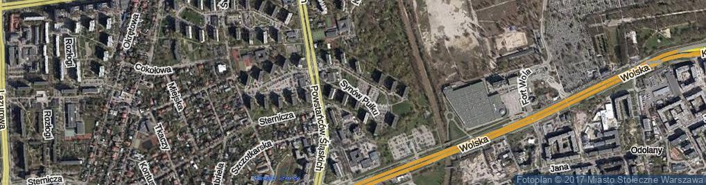 Zdjęcie satelitarne Synów Pułku