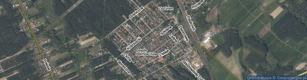 Zdjęcie satelitarne Szklana ul.