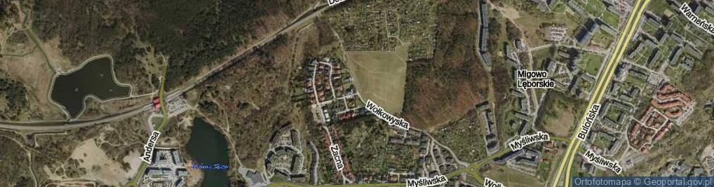 Zdjęcie satelitarne Szczodra ul.