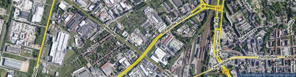 Zdjęcie satelitarne Szarych Szeregów