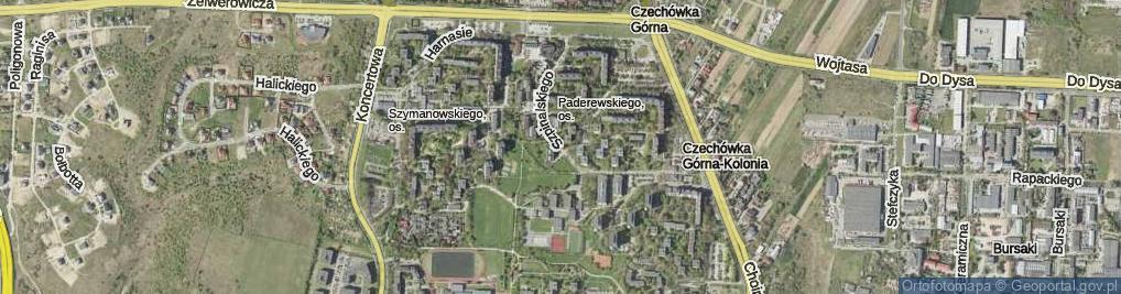 Zdjęcie satelitarne Szpinalskiego Stanisława ul.