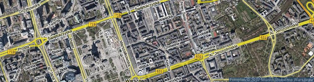 Zdjęcie satelitarne Szpitalna