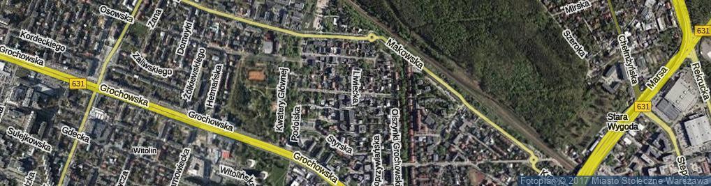 Zdjęcie satelitarne Sztabowa ul.