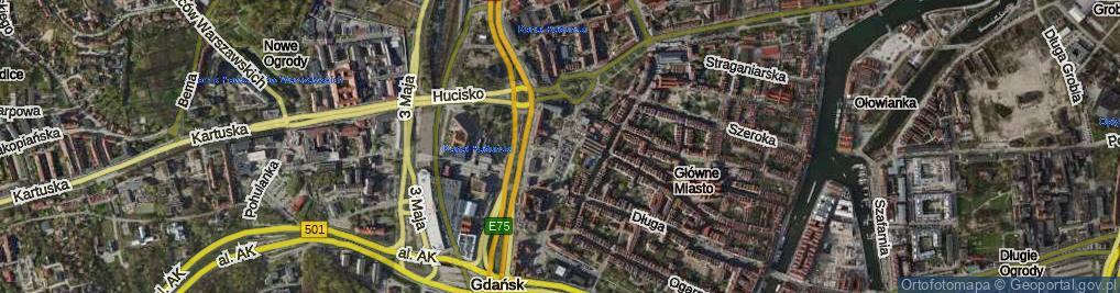 Zdjęcie satelitarne Targ Węglowy