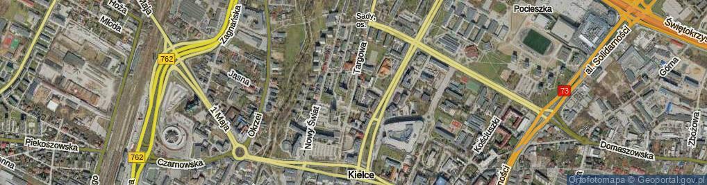 Zdjęcie satelitarne Targowa