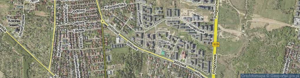 Zdjęcie satelitarne Tarasowa ul.