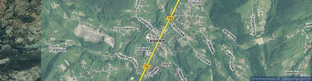 Zdjęcie satelitarne Targanice