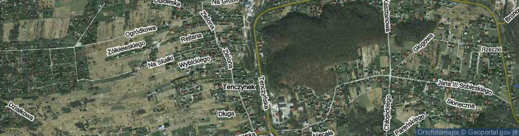 Zdjęcie satelitarne Tenczynek ul.