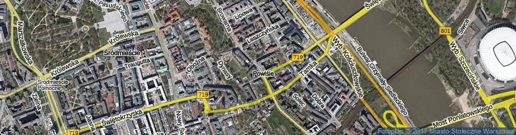 Zdjęcie satelitarne Topiel