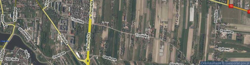 Zdjęcie satelitarne Trzcińska